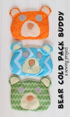 Sew a Bear Cold Pack Buddy to bring kids comfort when they get bumps and bruises #ShareABear #ad #cbias