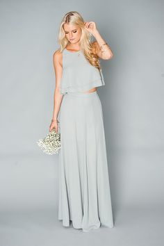 Show Me Your Mumu bridesmaids gown --- perfect bridesmaids, love the two piece #MumuXWattersX100LC