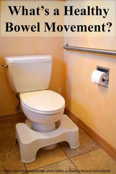 What's a Healthy Bowel Movement? Using the Bristol Stool Chart to identify a healthy bowel movement. Five tips for better bowel movements, bowel health.