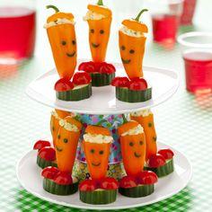 #traktatie Paprika mannetjes voor kinderfeestje ook leuk voor de #bentobox !