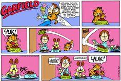 Garfield Quotes, Garfield Cartoon, Garfield And Odie, Garfield Comics, Best Books To Read, Good Books, Garfield Pictures, Hagar The Horrible, Friend Cartoon