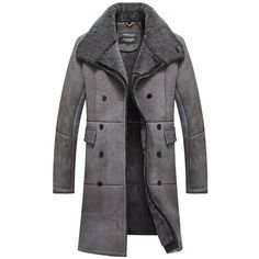 CWMALLS Men's Shearling Sheepskin Trench Coat Double Breasted CW807668 ($2,186) ❤ liked on Polyvore featuring men's fashion, men's clothing, men's outerwear, men's coats, mens shearling coat, mens double breasted coat, mens trench coat and mens trenchcoat