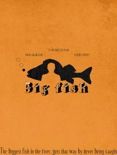 Big Fish (2003) - Minimal Movie Poster by Helen Flight #minimalmovieposters #alternativemovieposters