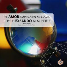 """#AfirmaHoy: """"El amor empieza en mi casa, hoy lo expando al mundo."""""""