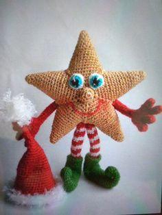 Crochet Christmas Decorations, Christmas Crochet Patterns, Holiday Crochet, Christmas Knitting, Amigurumi Toys, Amigurumi Patterns, Patron Crochet, Crochet Basics, Crochet Dolls