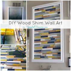 Check out this DIY Wood Shim Artwork!