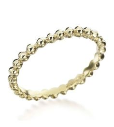 Anne Sportun - Organic Collection 18K Yellow Gold Thin Seed Lady's Band