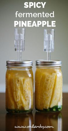 Spicy Fermented Pineapple - Oh Lardy! :: Want some simple tips to help you learn how to ferment foods at home? Join our email series that will teach you everything you need to know. Healthy Recipes, Healthy Nutrition, Real Food Recipes, Healthy Eating, Food Tips, Food Food, Healthy Food, Fermentation Recipes, Canning Recipes