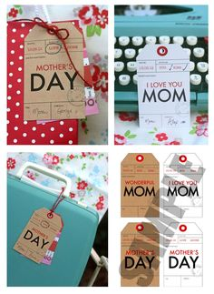 Mother's Day gift tags - cute!