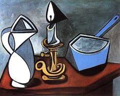 Still Life (Nature morte) - Pablo Picasso (inspired by) - Painting Reproduction Pablo Picasso Artwork, Kunst Picasso, Art Picasso, Picasso Paintings, Picasso Style, Portrait Paintings, Oil Paintings, Picasso Still Life, Pompidou Paris