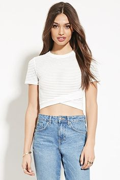 Boxy Shadow Stripe Top | Forever 21 #thelatest
