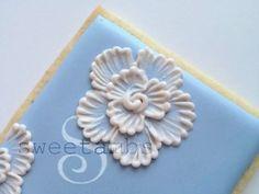 royal icing/liquid clay, etc. brush embroidery flower box tutorial