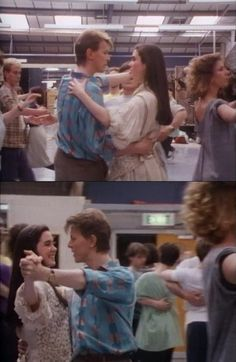 David Bowie and Jennifer Connelly rehearsing the ballroom scene. Screen-caps from the documentary Inside the Labyrinth, a great little behind the scenes film you can find on most version of the...