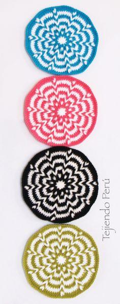 Crochet: trenzas con vainillas en circular! Video tutorial del paso a paso que incluye un bolso o cartera black&white ♥