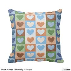 Heart Pattern Texture Pillows