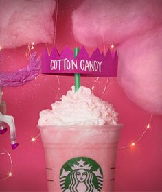 Starbucks Cotton Candy Frappuccino is now an official Starbucks menu item!