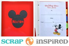 Disney Travel Journal (with FREE downloads) by Monica at scrapinspired.com