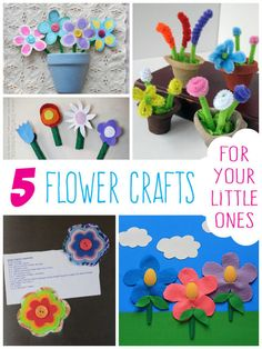 5 Fun Flower Crafts for Your Little Ones