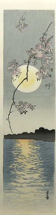 Cherry Blossom on a Spring Night by Yoshimoto Gesso (1881-1936)