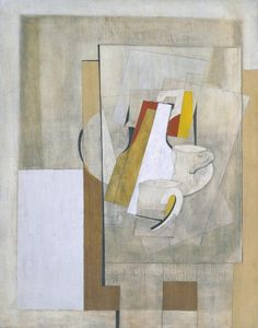 Ben Nicholson OM 1894–1982, Title: 1945 (still life); Date:1945 ;  Medium: Oil paint and graphite on canvas - © Angela Verren Taunt 2014. All rights reserved, DACS  http://www.tate.org.uk/art/artworks/nicholson-1945-still-life-n05626