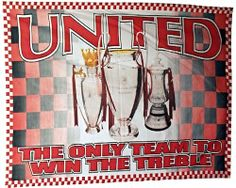 United only Team to Win the Treble Flag Rare Collectable