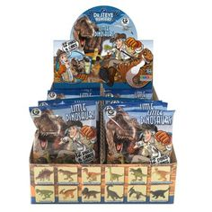 Little Dinosaurs Blind Packs Description 12 Dinos & Cards To Collect! Ages 5+ Each package is a surprise! You will receive 1 of the following small dinosaurs in each pouch: Stegosaurus Tyrannosaurus Rex Brachiosaurus Pinacosaurus Pachycephalosaurus Spinosaurus Ceratosaurus Parasaurolophus Hadrosaurus Triceratops Dilophosaurus Velocirator Dinosaur Toys For Kids, Spinosaurus, Tyrannosaurus Rex, Prehistoric, Stevia, Fossils, Blinds, Pouch