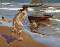 The Bathing Hour 1917 Painting By Joaquin Sorolla - Reproduction Gallery Spanish Painters, Spanish Artists, Claude Monet, Valencia, Pop Art, Digital Museum, European Paintings, Collaborative Art, Famous Art