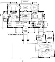 Country Style House Plan - 3 Beds 3.50 Baths 2946 Sq/Ft Plan #928-13 Floor Plan - Main Floor Plan - Houseplans.com