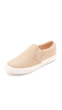 DKNY Beth Woven Slip On Sneakers