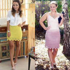 Light pink crochet skirt inspired by Alzira Vieira.