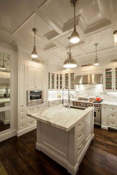 [ White Kitchen Cabinets White Marble Countertops Marble Backsplash Kitchen Tile Backsplash Ideas White Cabinets Kitchen Design ] - Best Free Home Design Idea & Inspiration White Kitchen Cabinets, Kitchen Cabinet Design, Kitchen Countertops, Marble Countertops, Backsplash Marble, Hexagon Backsplash, Kitchen Island, Beadboard Backsplash, Herringbone Backsplash