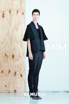Pure postconsumer denim design MEM samurai 2017 Kape jacket Taito pants