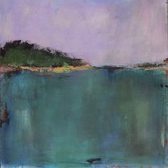 Contemporary Abstract Landscape Painting  West Elm di jgouveia, $1200.00