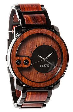Flud Watches Watch Exchange in Red Wood $130
