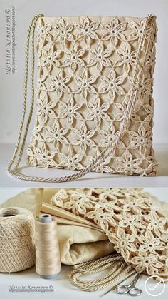 Crochet Motif, Crochet Stitches, Free Crochet, Knit Crochet, Crochet Patterns, Crochet Handbags, Crochet Purses, Crochet Bags, Crochet Vintage