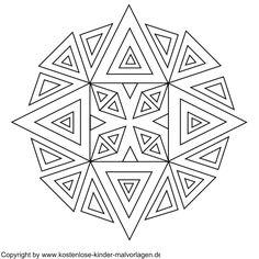 Mandala w/ all triangles.