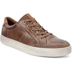 80c75af5ebc071 Ecco Men's shoes · A Retro Sport-Silhouette Sneaker In A Rich, Soft Vintage  Leather For A Modern