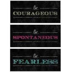 PTM Courageous, Spontaneous & Fearless 3 Piece Textual Art on Canvas Set