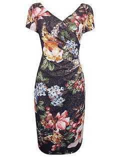NEW ADRIANNA PAPELL NAVY FLORAL OCCASION SHEATH DRESS 8 to 16 RRP £220