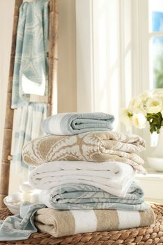 Fluffy Coastal Towels