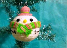 kawaii Amigurumi Snowball Plushie Noël boule par SugarPopCrochet