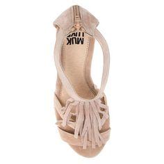 Women's Muk Luks Ciara Quarter Strap Wedge Sandals - Tan 10