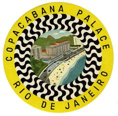 #travelcolorfully vintage copacabana palace luggage label