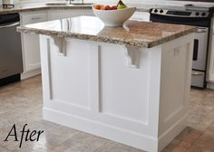 This is how I totally transformed my boring kitchen island | Builder ...