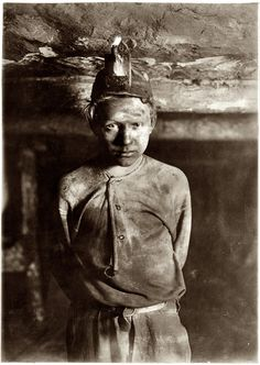 Trapper boy a mile deep in a mine in Macdonald, WV 1908 - Same year my 8 year old grandfather went to work in the mines in WV.