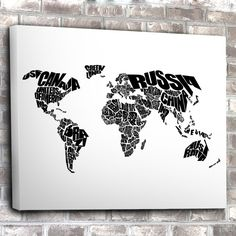 World Word Map Canvas