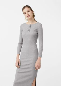 f1eebfdfb25d Tailored ribbed dress - Dresses for Woman