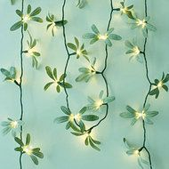 CHAIN BATTERY FOLIAGE GREEN Divine soft green garland.  Length - 2.2m total of which 1.9m is illuminated  Power source - 3 x AA batteries (not included)