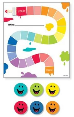 Painted Palette Painted Path Student Incentive Chart & Bright Smiles Hot Spots Stickers - Track progress as kids work toward a goal, exhibit good behavior, or complete tasks. Great for chores, homework assignments, and to reinforce daily routines.