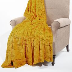 Found it at Wayfair - Air Brushed Colleen Faux Fur Throw Blanket Contemporary Blankets, Cooling Blanket, Faux Fur Throw, Bnf, Joss And Main, Signature Style, Airbrush, Your Style, Yellow